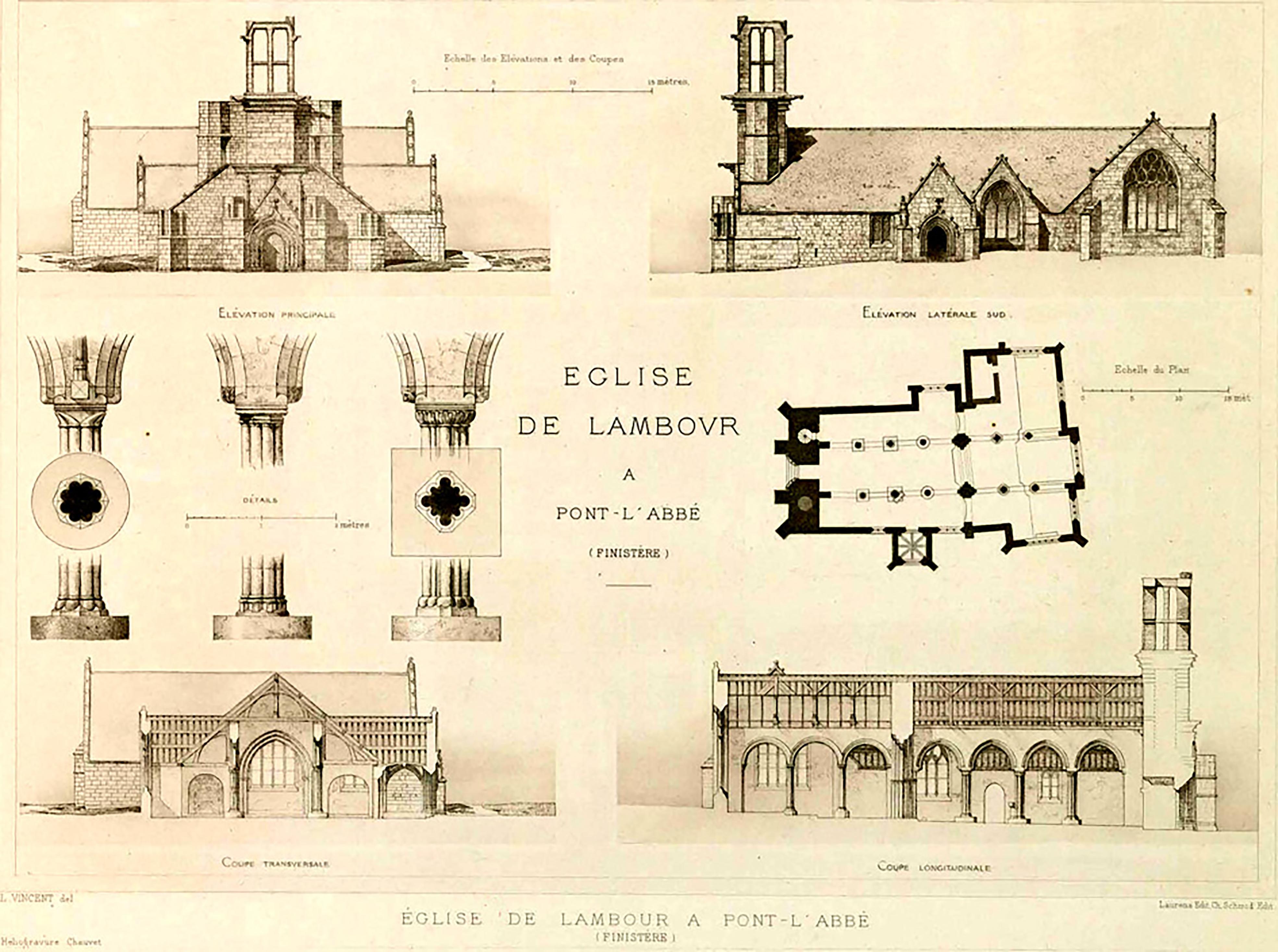 Eglise de Lambour - plans